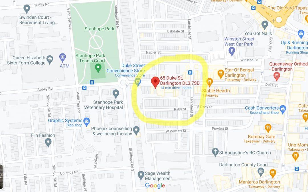 I Am Relocating To Duke Street, Darlington